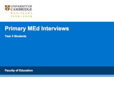 Primary MEd Interviews - Year 2 Students's image