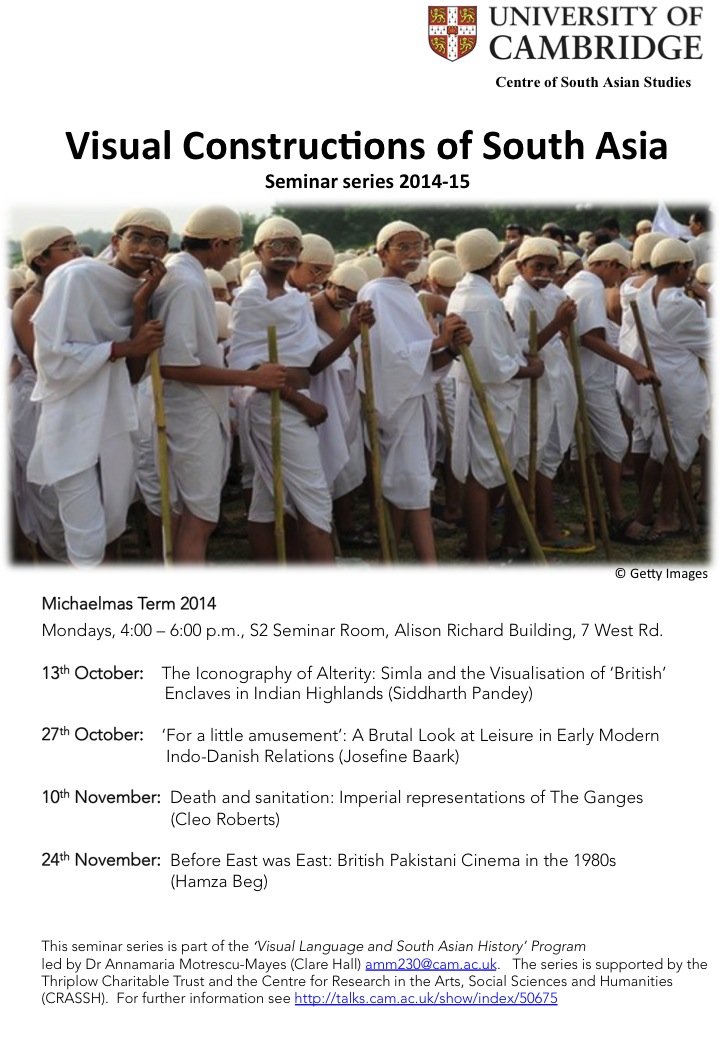 'Visual Constructions of South Asia' seminar series (Michaelmas 2014)'s image