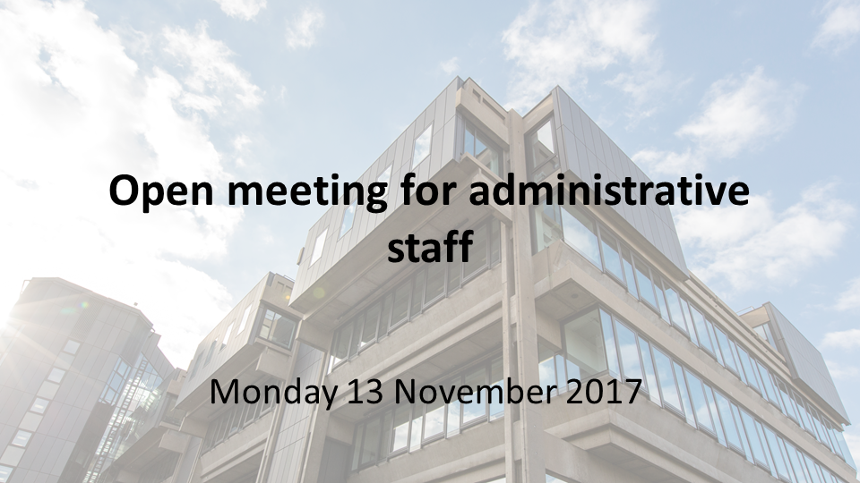Open Meeting for Administrative Staff's image